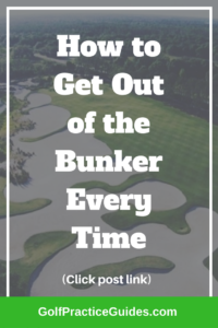 golf bunker drills