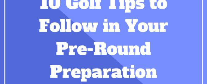 golf pre round routine