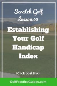 golf handicap index average golf score