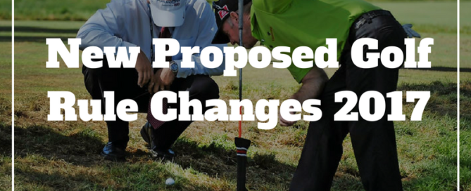 new golf rule changes 2017