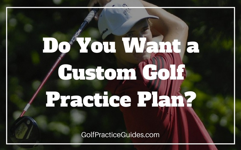 Custom Golf Practice Schedule Template - Golf Practice Guides