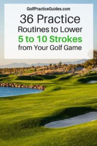 golf practice routine tips drills putting chipping golf swing aids