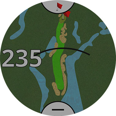 touch targeting garmin golf watch