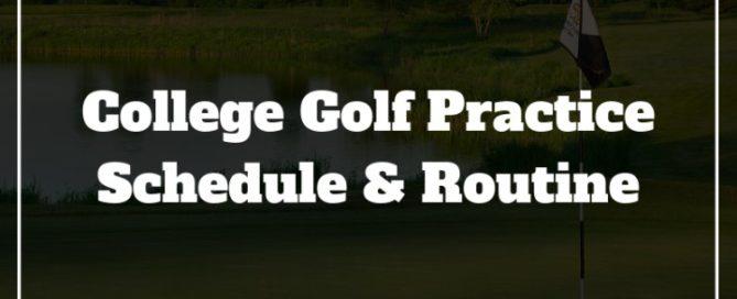 college golf practice routine
