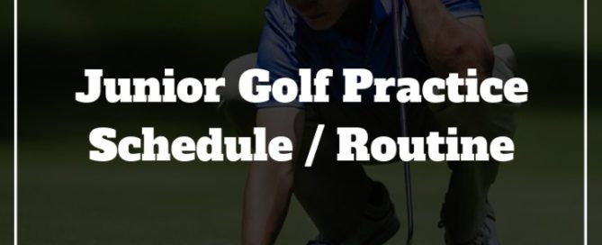 junior golf practice schedule