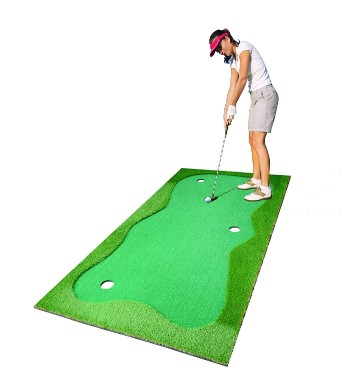 synthetic indoor putting green