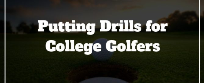 college golf putting drills