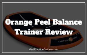 orange peel balance trainer golf