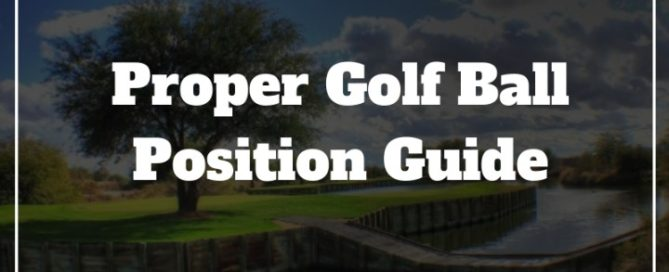 golf ball position guide