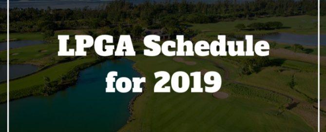 lpga golf schedule