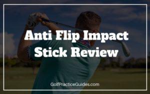 anti flip golf swing training aid