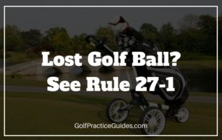 lost golf ball rule 27-1