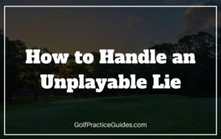 unplayable lie golf rule