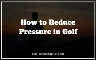 how to reduce pressure in golf