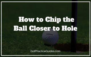 golf chipping close to hole