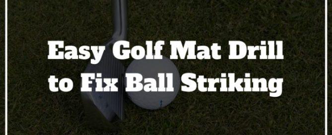 golf mat drill