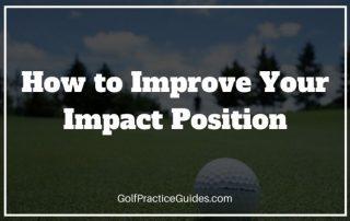 golf swing impact position