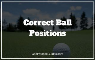 correct ball positions in golf